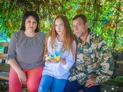 Андрій, Руслана та донька Дар'я