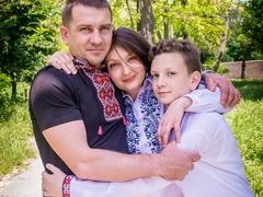 Андрій та Тетяна з сином Олександром.