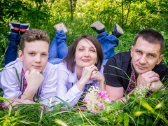 Андрій та Тетяна з сином Олександром