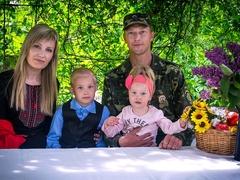 Федір, Катерина, синок Богданчик та донька Єва
