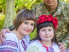 Михайло, Олександра з донькою Катериною