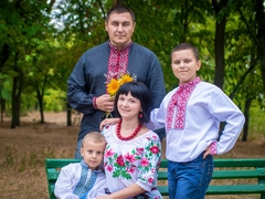 Сергій, Ірина з синами Артемом та Владиславом