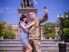 Валентин з нареченою Інною