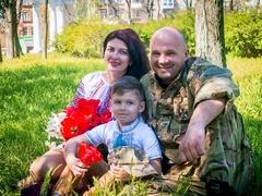 Віктор з дружиною Іриною і синочком Олегом
