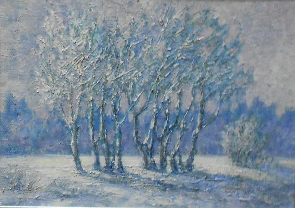 «Сонячний сніг». Полотно, олія. 25х34