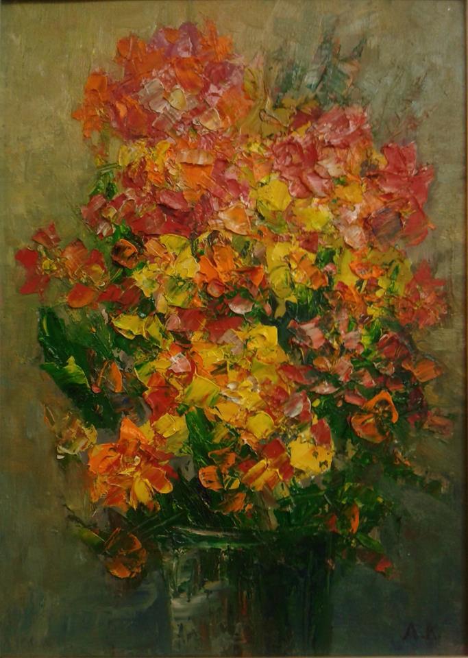 «Жар-квіти». ДВП, олія. 37х27